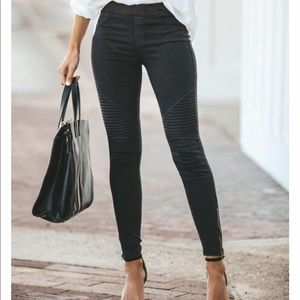 VICI Collection Piper jeggings in charcoal